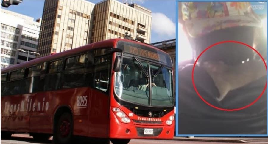 Rata en bus de Transmilenio