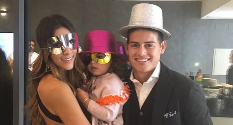 Daniela Ospina, Salomé y James Rodríguez