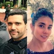 Alejandro García y Eileen Moreno, actores.