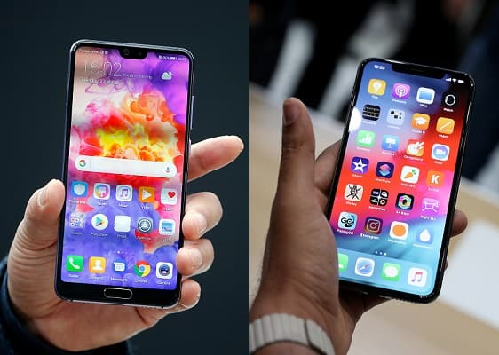 Huawei P20 Pro y iPhone XS