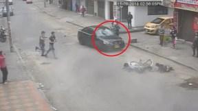 Mujer que arrolló a padre y niño en Bogotá