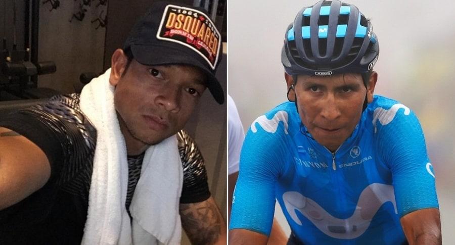 Fredy Guarín y Nairo Quintana