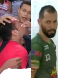 Jugador agrede a árbitro