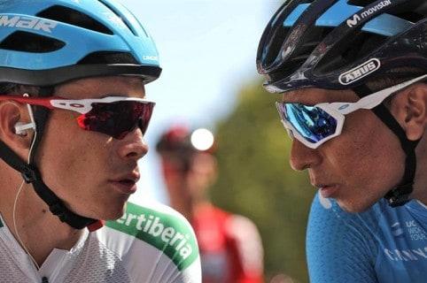 Miguel Ángel López y Nairo Quintana
