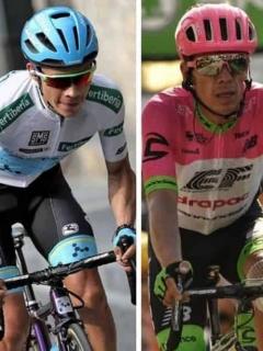 Nairo Quintana, Miguel Ángel López y Rigoberto Urán