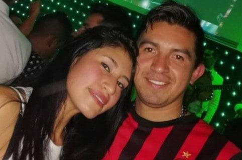 Carmen González Granados y su esposo Maicol Hurtado