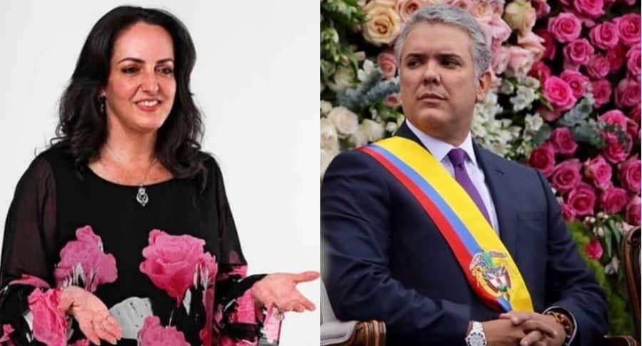 María Fernanda Cabal e Iván Duque
