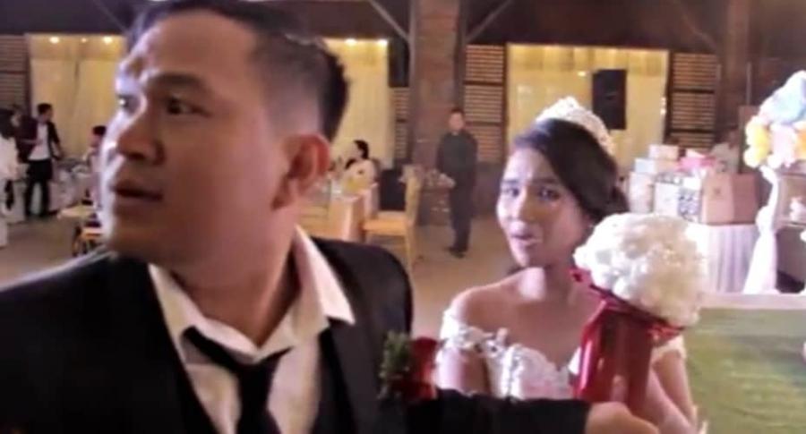 Tifón llega a una boda.