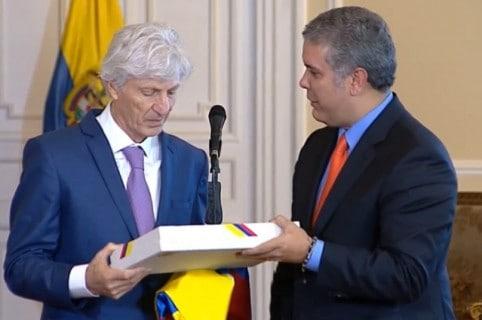 José Pékerman e Iván Duque