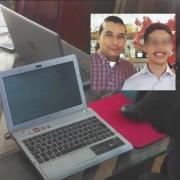 Computadores confiscados. Juan Carlos Madero, y su hijo Juan Camilo.