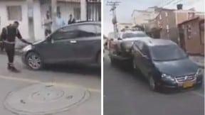 Carro afectado en grúa en procedimiento de inmovilización