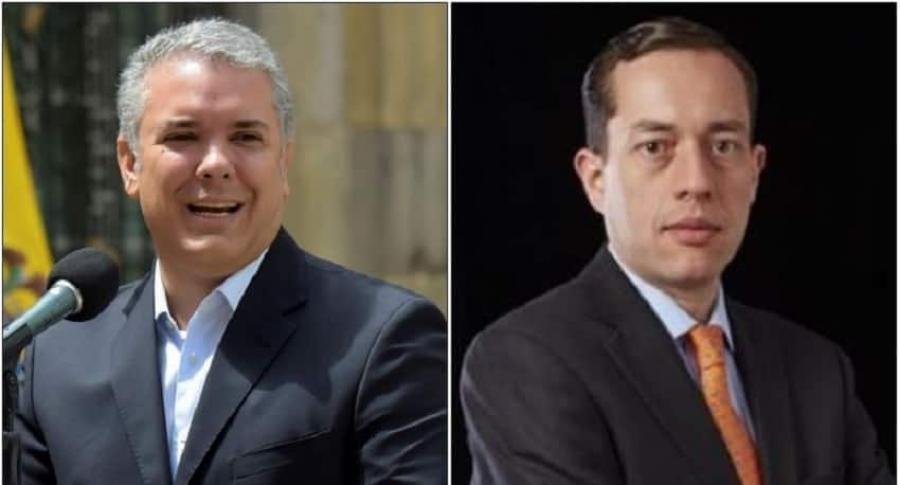 Iván Duque y Andrés Barreto