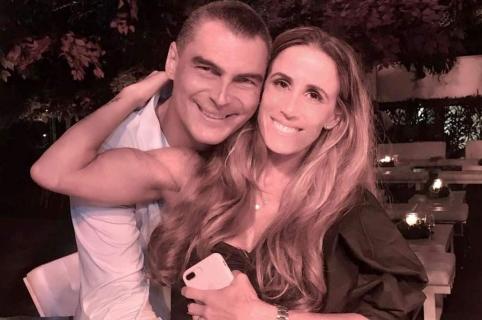 Faryd Mondagón, exarquero, y su pareja Adriana Zamora.