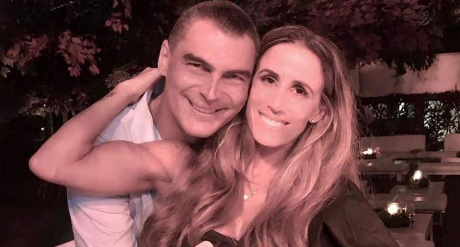 Faryd Mondagón, exarquero, y su pareja Adriana Zamorano.