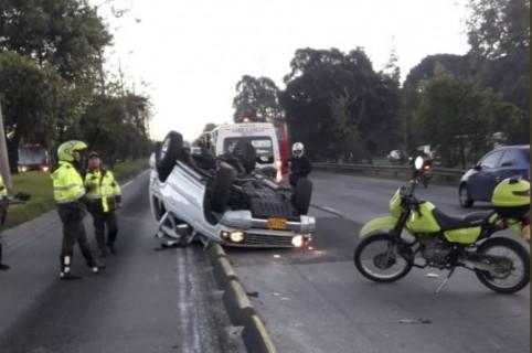 Accidente en la Autopista Norte con calle 127