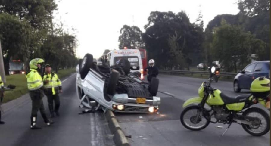 Accidente en la Autopista Norte con calle 127