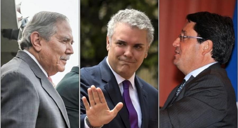 Guillermo Botero, Iván Duque y Francisco Santos