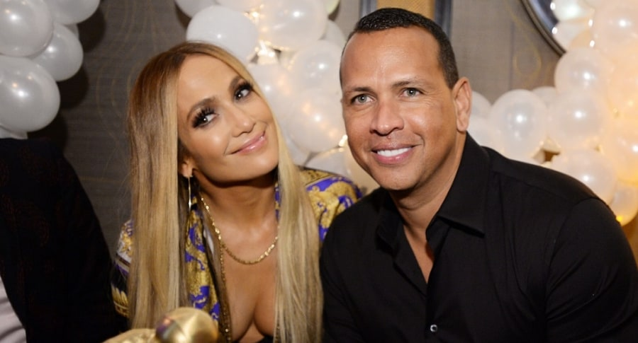 Jennifer Lopez, cantante, con su novio Alex Rodríguez.