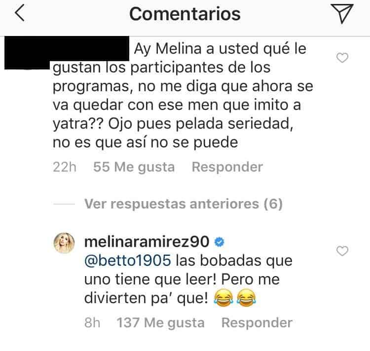 Comentarios Melina Ramírez