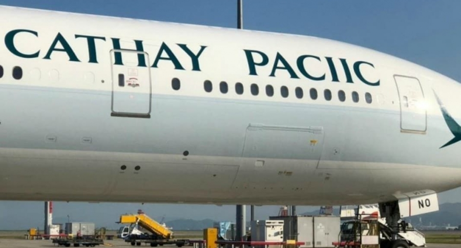 Avión de Cathay Pacific.