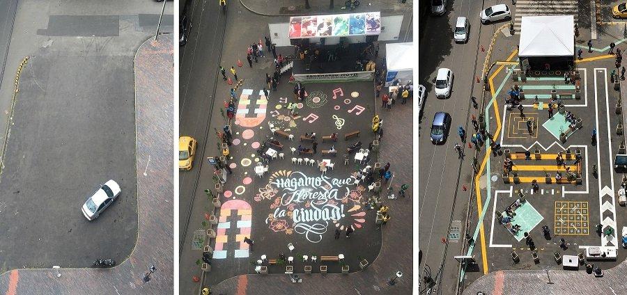 Cruce peatonal en Bogotá