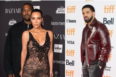 Kanye West, Kim Kardashian y Drake