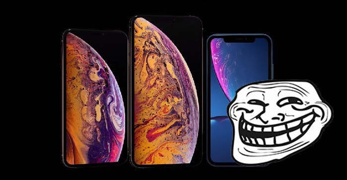 iPhones y Troll Face