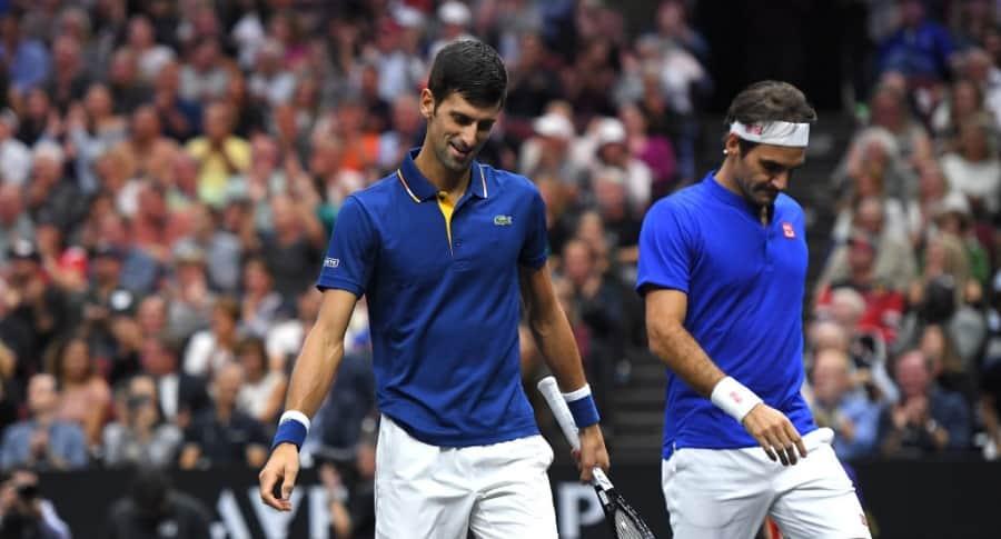 Djokovic Federer vs Anderson Sock