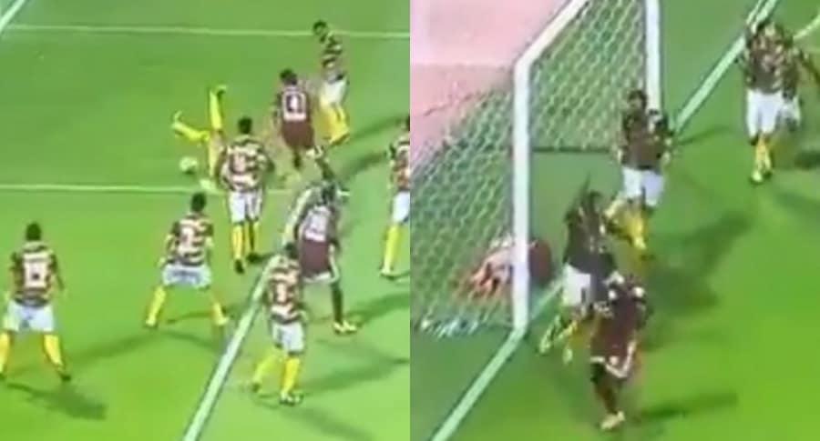 Jugador evita gol de su propio equipo