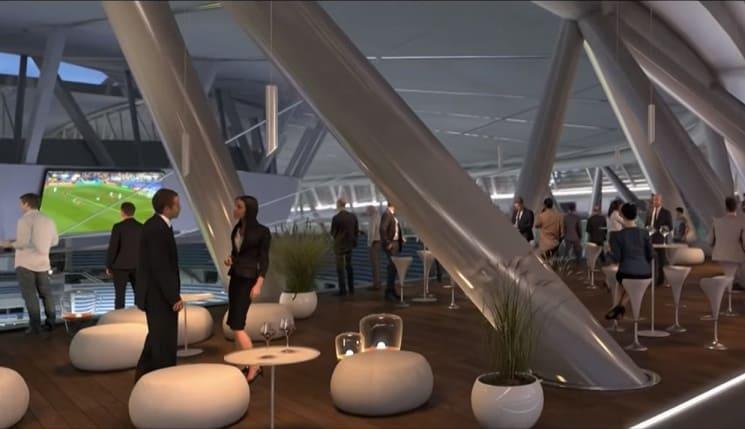 Instalaciones del nuevo Santiago Bernabéu
