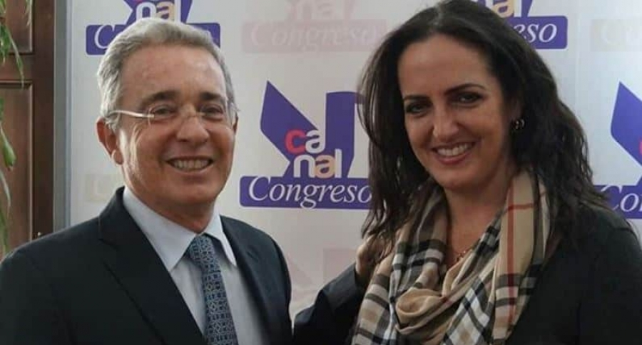 Álvaro Uribe y María Fernanda Cabal