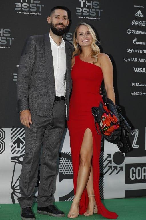 Clint Dempsey y su esposa