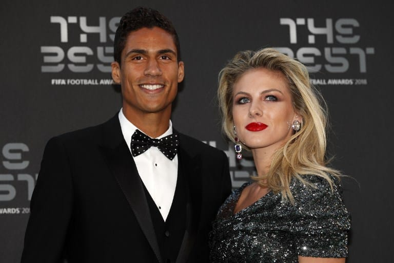 Raphael Varane y su esposa