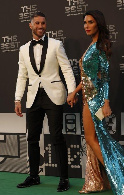 Sergio Ramos y su pareja