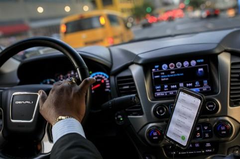 Interior de vehículo de Uber