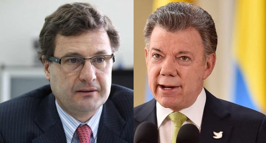 Luis Fernando Andrade y Juan Manuel Santos