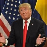 Donald Trump en su reunión con Iván Duque