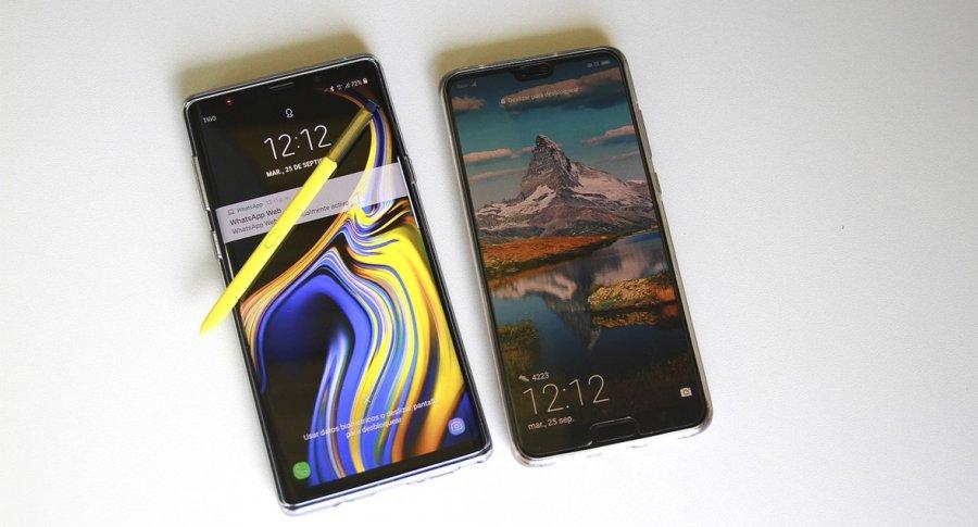 Galaxy Note 9 y P 20 Pro
