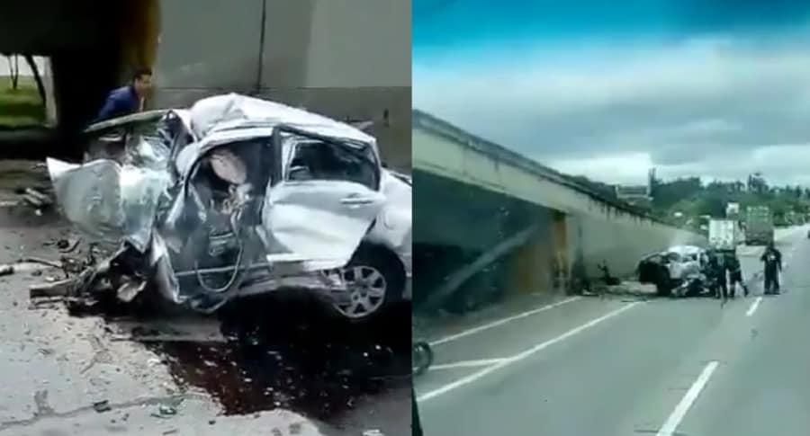 Accidente vía Chía-Bogotá