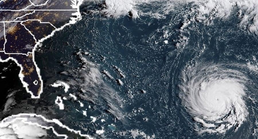 Foto aérea del huracán Florence