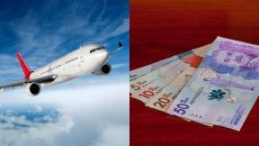 Avión  y dinero colombiano