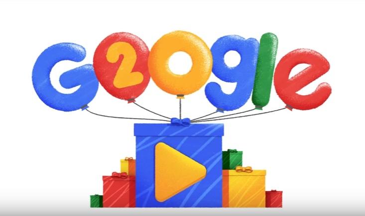 Doodle de Google por sus 20 años