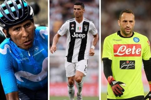 Nairo Quintana, Cristiano Ronaldo y David Ospina
