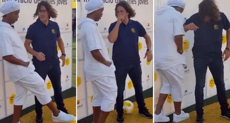 Ronaldinho y Carles Puyol