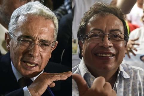 Álvaro Uribe y Gustavo Petro, congresistas.