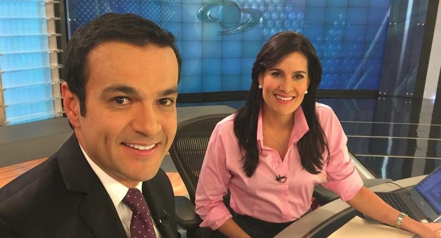 Juan Diego Alvira y Vanessa de la Torre