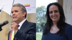 Iván Duque y María Fernanda Cabal