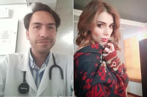 Jorge Cuervo, médico, y Marilyn Patiño, actriz.