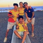 'Youtubers' colombianos Mario Ruiz, 'Pautips', Daniel Patiño y Sebastián Villalobos
