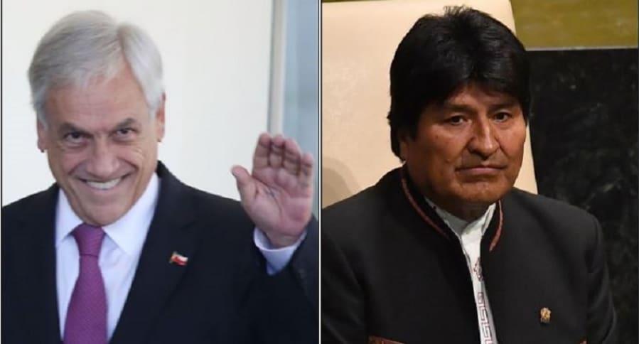 Sebastián Piñera y Evo Morales
